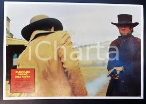 1985 PALE RIDER Clint EASTWOOD spara colpo di pistola *Lobby card EDIZIONE SERBA
