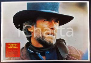 1985 PALE RIDER Ritratto di Clint EASTWOOD *Lobby card EDIZIONE SERBA 32x22 cm