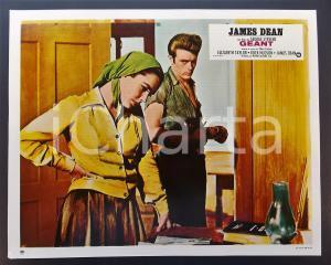 1970 ca IL GIGANTE James DEAN Elizabeth TAYLOR *Lobby card EDIZIONE FRANCESE