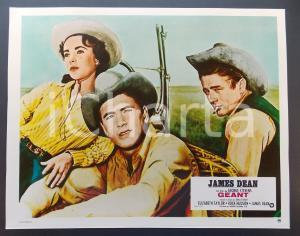 1970 ca IL GIGANTE Elizabeth TAYLOR Rock HUDSON James DEAN *Lobby card 29x23 cm