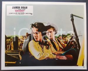 1970 ca IL GIGANTE Elizabeth TAYLOR e James DEAN in auto Lobby card ED. FRANCESE