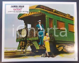 1970 ca IL GIGANTE Elizabeth TAYLOR e Rock HUDSON scendono dal treno *Lobby card