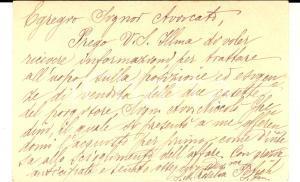 1919 PADOVA Suore Terziarie S. Giuseppe - Biglietto da visita della superiora