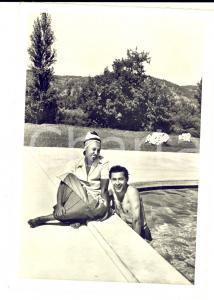 1940 ca Chateau de MILANDES Joséphine BAKER e Jo BOUILLON *Cartolina postale