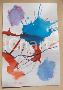 2005 ARTE Paolo SCHIAVOCAMPO Paesaggio - Acquerello su carta FIRMATO 20x30 cm