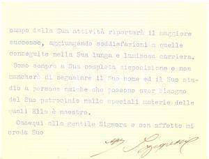 1930 ROMA Corte di Cassazione del Regno - NEGRETTI - Biglietto AUTOGRAFO