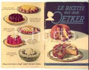 1950 ca Le ricette del dott. OETKER - Ricettario VINTAGE ILLUSTRATO 62 pp.