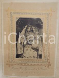 1900 ca BOVINO Ritratto Maria SS. Incoronata di Valleverde - Stampa 22x30 cm
