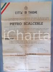 1949 THIENE Centenario morte Pietro SCALCERLE - Celebrazioni *Manifesto 70x100