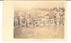 1910 ca REGIO ESERCITO Esercitazione con soldati in osservazione *Foto cartolina