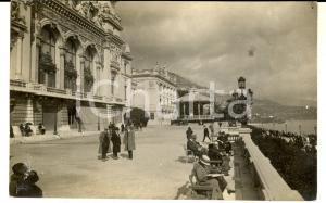 1930 ca COSTA AZZURRA (?) Veduta con palazzo sul lungomare - Foto cartolina