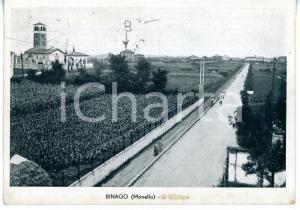 1946 BINAGO Frazione MONELLO Panorama con Chiesa Santa Maria *Cartolina ANIMATA