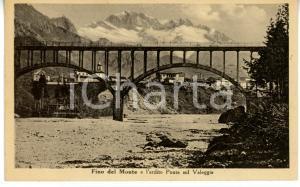 1946 FINO DEL MONTE (BG) Ponte sul torrente VALEGGIA *Cartolina VINTAGE - FP VG