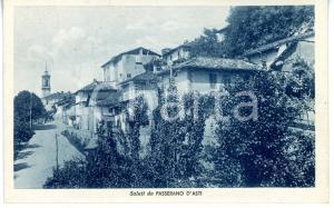 1947 PASSERANO MARMORITO (ASTI) Scorcio caratteristico *Cartolina VINTAGE FP VG