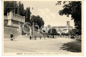 1941 CESENA Viale Mazzoni - Monumento ai caduti e chiesa SAN DOMENICO *Cartolina