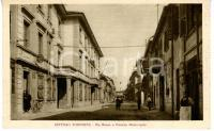 1941 SETTIMO TORINESE Via ROMA - Scorcio con Municipio *Cartolina VINTAGE FP VG