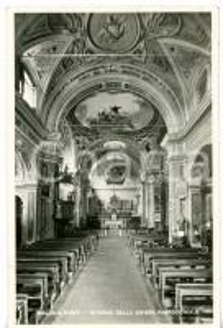 1949 TIGLIOLE (ASTI) Interno della chiesa di SAN LORENZO *Cartolina VINTAGE FP