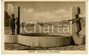 1940 TORINO Veduta panoramica di piazza BALILLA *Cartolina VINTAGE - FP VG