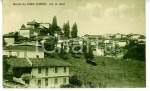 1942 PINO D'ASTI Veduta panoramica del paese *Cartolina VINTAGE - FP VG