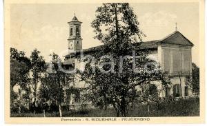1939 PEVERAGNO Veduta con chiesa di SAN GIOVENALE *Cartolina VINTAGE FP VG
