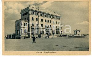 1943 CERVIA (RA) Panorama con GRAND HOTEL *Cartolina VINTAGE ANIMATA - FP VG