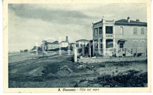 1936 SAN VINCENZO (LI) Panorama con ville sul mare *Cartolina VINTAGE - FP VG