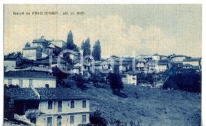 1944 PINO D'ASTI Veduta panoramica del paese *Cartolina VINTAGE - FP VG