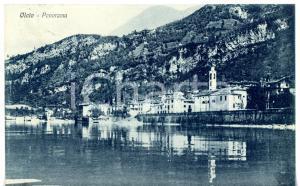 1937 MANDELLO DEL LARIO Frazione OLCIO Panorama sul lago di COMO *Cartolina FP