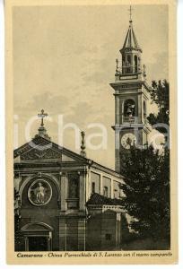 1941 CAMERANO CASASCO (AT) Chiesa di SAN LORENZO con nuovo campanile *Cartolina