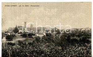1945 ca PINO D'ASTI Panorama del paese *Cartolina VINTAGE - FP VG