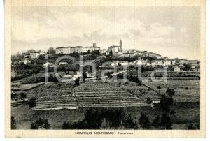 1941 MONTIGLIO MONFERRATO (AT) Panorama del paese *Cartolina VINTAGE FG VG