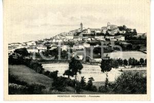 1941 MONTIGLIO MONFERRATO (AT) Panorama del paese - Cartolina VINTAGE FG VG