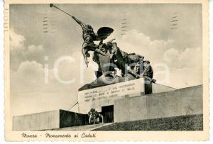 1940 MONZA Piazza Trento e Trieste - Monumento ai Caduti *Cartolina VINTAGE FG
