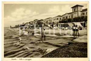 1940 ca RIMINI - VISERBA Agosto al mare - Turisti sulla spiaggia *Cartolina FG