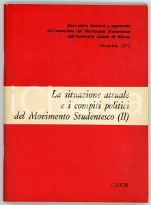 1971 CUEM La situazione attuale e i compiti politici del Movimento Studentesco