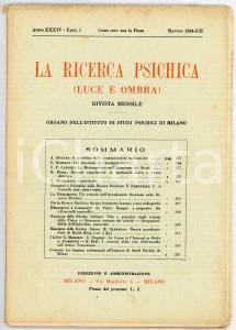 1934 LA RICERCA PSICHICA Dei fenomeni di
