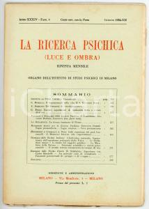 1934 LA RICERCA PSICHICA Sopranormale nella vita di San Giovanni Bosco *Fasc. 6