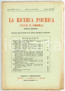 1934 LA RICERCA PSICHICA Le meraviglie dell'aldilà *Anno XXXIV - Fasc. 7