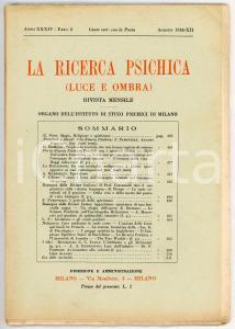 1934 LA RICERCA PSICHICA Magia, religione e spiritismo *Anno XXXIV - Fasc. 8