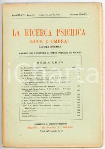1934 LA RICERCA PSICHICA Sir Oliver Lodge e la psicometria *Anno XXXIV Fasc. 10