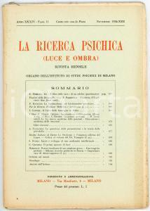 1934 LA RICERCA PSICHICA Lo spiritualismo nel cristianesimo *Anno XXXIV Fasc. 11