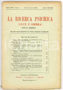 1935 LA RICERCA PSICHICA Nino Pecoraro e le sue facoltà psichiche *Fasc. 4