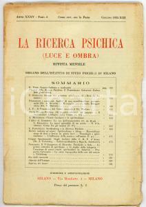 1935 LA RICERCA PSICHICA Analisi di una manifestazione paranormale *Fasc. 6