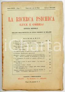 1935 LA RICERCA PSICHICA La figura del Cristo romanzata *Anno XXXV - Fasc. 7