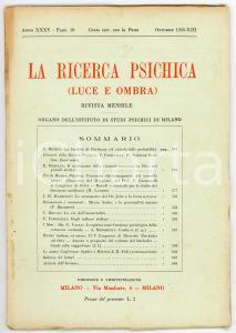 1935 LA RICERCA PSICHICA Lo stenometro del dottor Joire *Anno XXXV - Fasc. 10