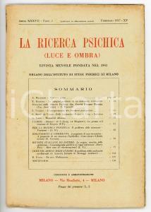 1937 LA RICERCA PSICHICA Il problema delle stimmate *Rivista Anno XXXVII Fasc. 2