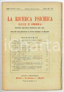 1937 LA RICERCA PSICHICA Le indagini psichiche di un dubitatore *Fasc. 3