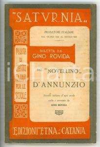 1933 Gino ROVIDA Collana SATURNIA - Dal Novellino a D'Annunzio *Ed. ETNA Catania