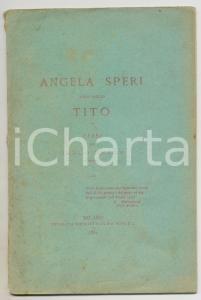 1884 Carlo REALE Versi in memoria di Angela TORTIMA e suo figlio Tito SPERI