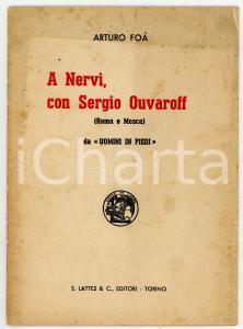 1936 Arturo FOÀ A Nervi, con Sergio Ouvaroff / Da
